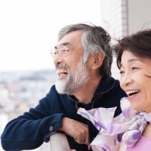 老夫婦の笑顔